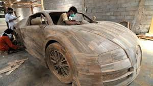 bugatti veyron size replica made from wood costs just 3 300