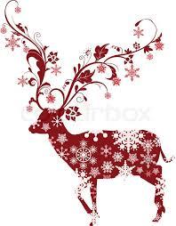 christmas deer vector illustration of christmas deer stock vector colourbox