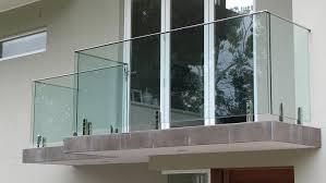 balcony railing stainless steel frameless glass balustrades