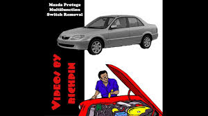 mazda protege multifunction switch removal youtube