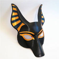 leather mask anubis dog leather mask half handmade