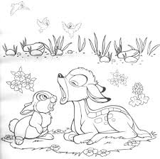 disney cartoon bambi coloring pages womanmate