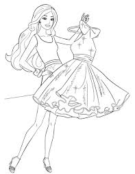 barbie coloring pages printable free glum me