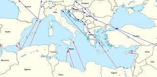 Greece Map Europe by Map Of Refugee Routes Into Europe
