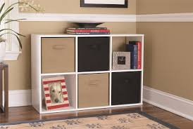 White Cubby Bookcase by Systembuild Furniture 6 Cube Storage Cubby Bookshelf White