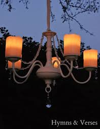 diy outdoor chandelier hymns and verses