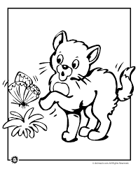 cute kitten coloring woo jr kids activities
