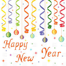 new year decoration happy new year decoration christmas balls on confetti royalty
