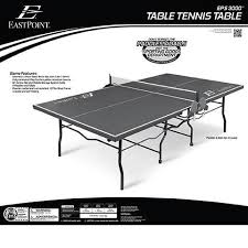 eastpoint sports table tennis table eastpoint sports eps 3000 2 piece table tennis table 18mm top
