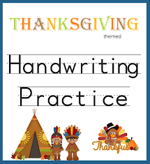 handwriting practice thanksgiving themed one beautiful home