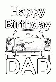 free printable happy birthday coloring pages for kids best of dad