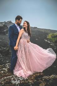 iceland wedding photographer nontraditional wedding dress