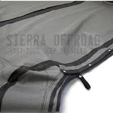 jeep soft top white sierra offroad jeep wrangler tj soft top 2003 06 in black