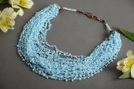 handmade beaded necklace designs images  jpg