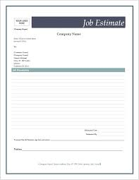 Free Estimates Forms by Free Estimate Forms Microsoft Word Templates