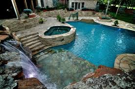Oklahoma waterfalls images Waterfalls connect oklahoma home to pool mediterranean pool jpg