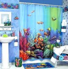 Themed Shower Curtains Tropical Fish Curtain For Shower Themed Shower