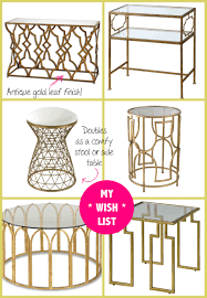 home decorating items online spring shopping u2013 my new gold mirrored table from build com
