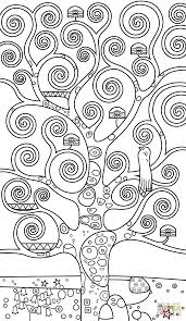 tree of life by gustav klimt coloring page free printable