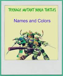 teenage mutant ninja turtles u0027 names colors
