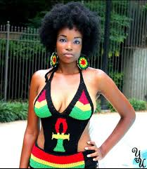 2015 bob marley color inspired 1pc crochet ankh bathing