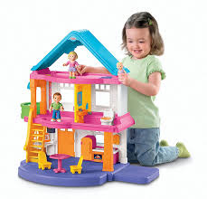 amazon com fisher price loving family my first dollhouse toys