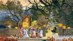 halloween scene wallpaper my thoughts in rhyme my halloween dream