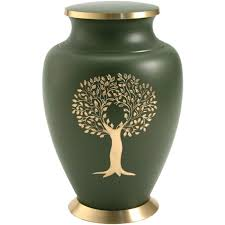 cremation tree cremation urns tree of green and gold