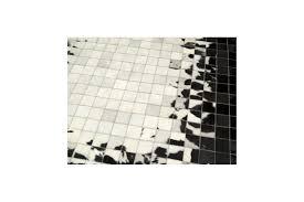 Patchwork Cowhide Rug Patchwork Cowhide Mosaik Black White Leather Carpet Rug Handmade