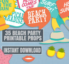 printable photo booth props summer 35 beach party prop printables summer party printable props