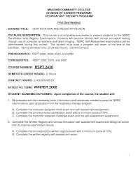 Sample Resume Objectives Ojt Students by Student Respiratory Therapist Cover Letter