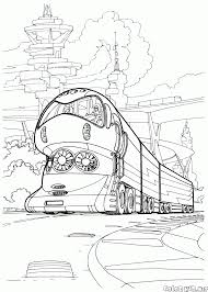 coloring page the high tech train