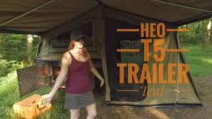 highland expedition outfitters t5 trailer tent youtube