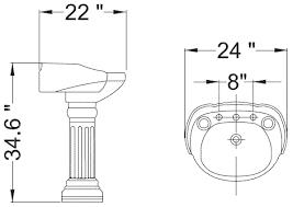 Pedestal Bathroom Sink by Pedestal Basin Sinks