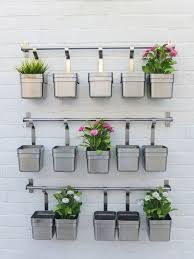 Wrought Iron Wall Planters by Wall Mounted Planters Finished Set Of Wall Mounted Mason Jar