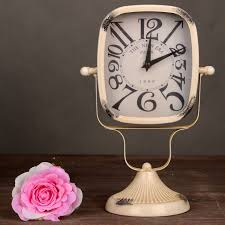 metal ornaments home decor vintage new year decor craft iron alarm clock metal ornaments clock