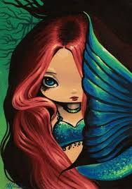 25 mermaid paintings ideas beautiful mermaid