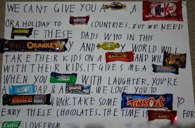 chocolate message for dad angathome
