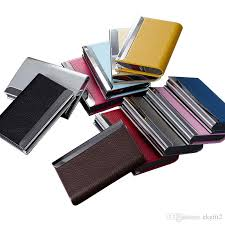 Fancy Business Card Holder 2017 Stainless Steel Business Card Holder With Pu Leather Various