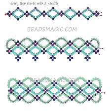 bracelet with beads patterns images Free pattern for bracelet santorini free pattern beads and jpg
