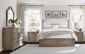 Bedroom Set In Salt Oak Stanley Wethersfield Estate Upholstered Customizable Bedroom Set