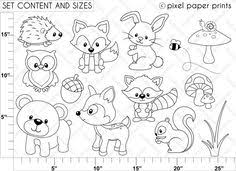 sea animals digital stamps clipart coloring animales and