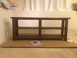 Rustic Hallway Table Ana White Rustic Console Table Diy Projects