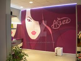 wall painting at hair salon by crnajecica on deviantart mural