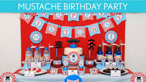 mustache bash little man birthday party ideas mustache b34