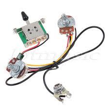 two pickup guitar wiring harness 3 way blade switch 500k great w