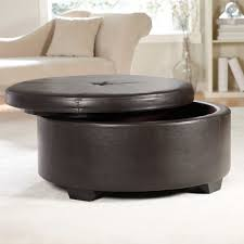 coffee table round leather ottoman coffee table with storage