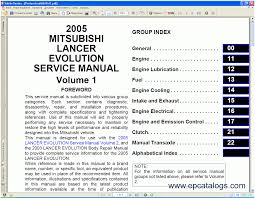 mitsubishi lancer 2005 repair manual cars repair manuals