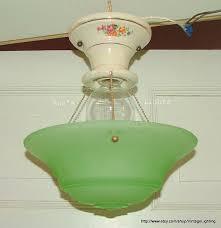 3 Chain Ceiling Light Fixture Antique Vintage Lighting 3 Chain Hanging Ceiling Light Porcelain