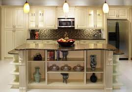 How To Glaze White Kitchen Cabinets by Cream Kitchen Cabinets With Chocolate Glaze Decoration